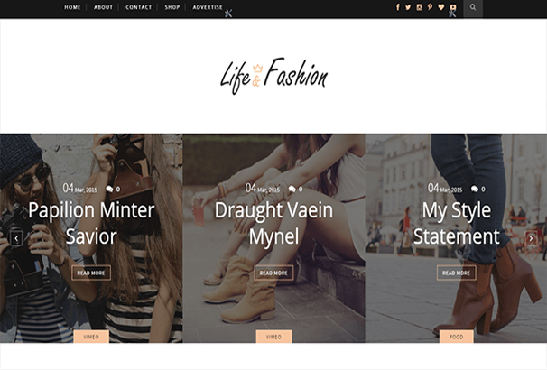 It Will Be A Perfect Choice For Your Fashion Blog Personal Niche Authority Etc Life Is Responsive Design So That Contents