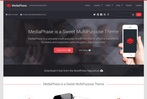 60 best responsive free wordpress business themes 2017 20 friedricerecipe Images