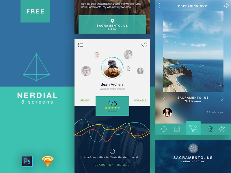 50+ Amazing Free UI Kits for Photoshop & Sketch 2017