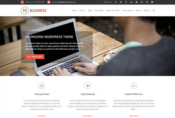 60 best responsive free wordpress business themes 2017 3 cheaphphosting Image collections