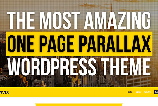 50 Best One Page WordPress Themes 2017