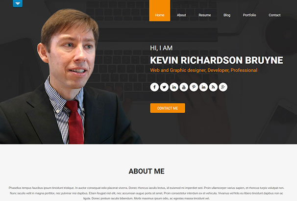 Best Cv  Resume Wordpress Themes