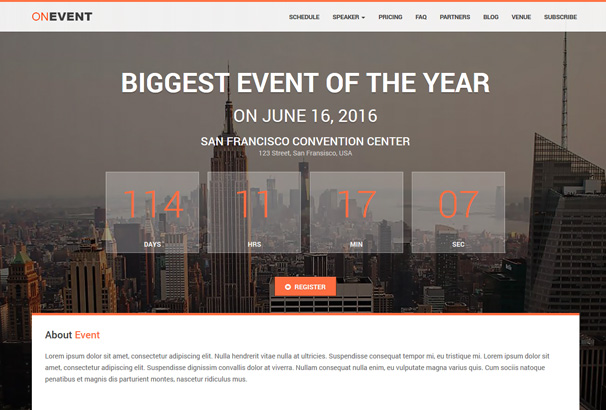 65+ Best WordPress Event & Conference Themes 2017
