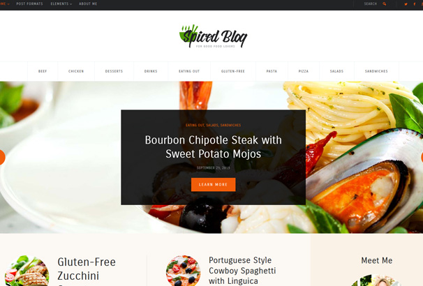 40 best wordpress food themes 2017 food blogs recipes 5 forumfinder Images
