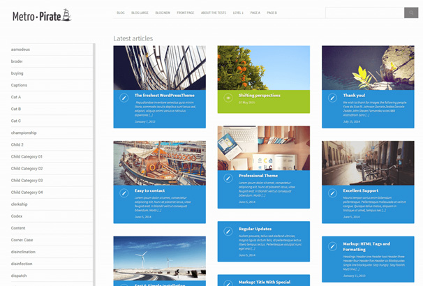 30+ Free Grid WordPress Themes 2017