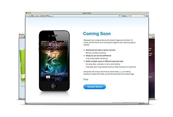 Coming Soon WordPress Theme free From Templatic
