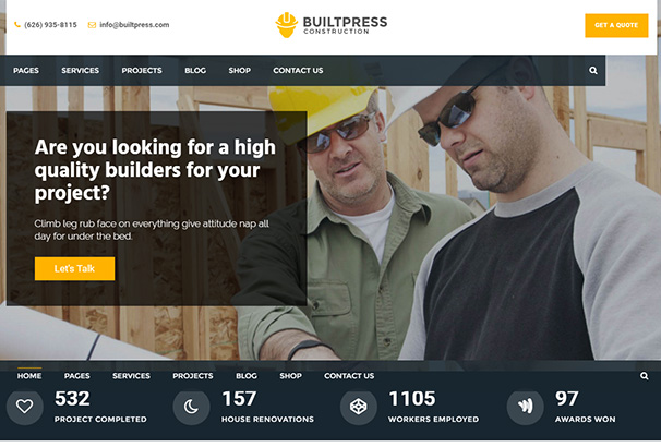 10 themeforest Builtpress