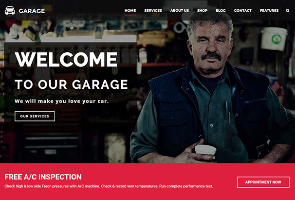 115 themeforest garage