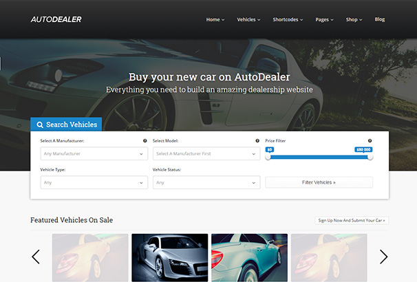 119 themeforest Auto Dealer