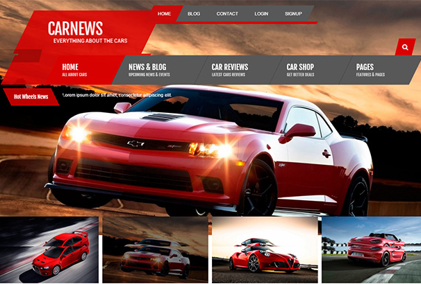 122 themeforest Car News