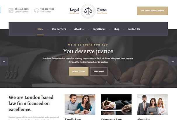 15 themeforest LegalPress