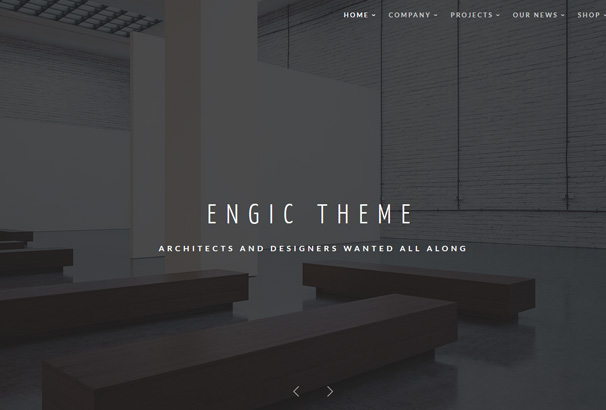 50 best architect wordpress themes 2017 for Architecture design sites