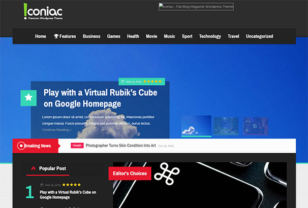 9 themeforest Iconiac