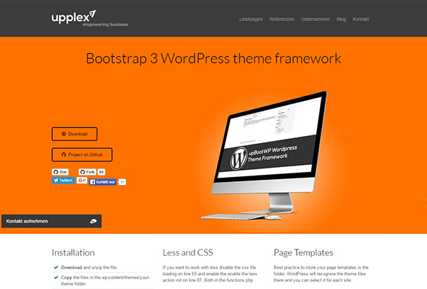 Bootstrap 3 WordPress Theme Free Framework