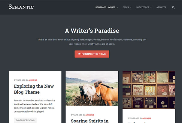 70+ Best WordPress Themes for Writers & Authors 2017