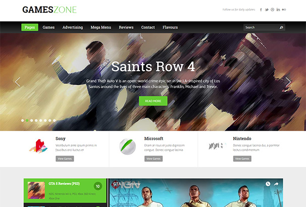 themeforest 1 Games Zone