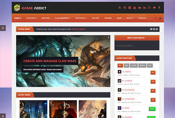themeforest 2 Game Addict
