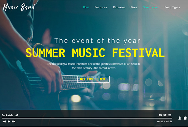 themeforest 3 Music Band