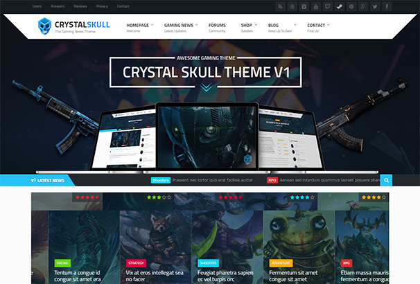 themeforest 5 CrystalSkull