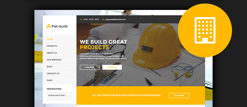 WordPress Construction Themes