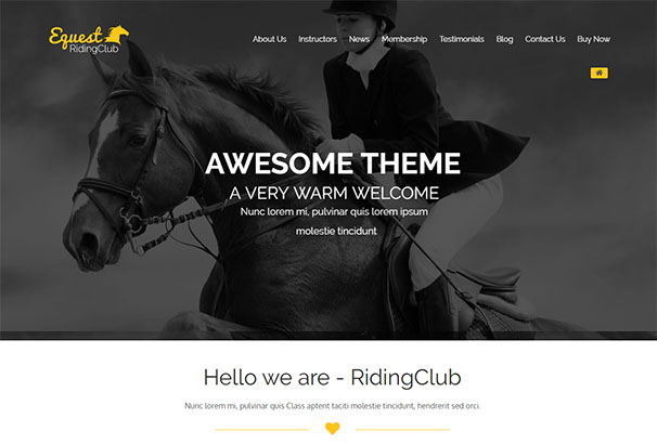 Theme Forest 18 Equestrian Pro