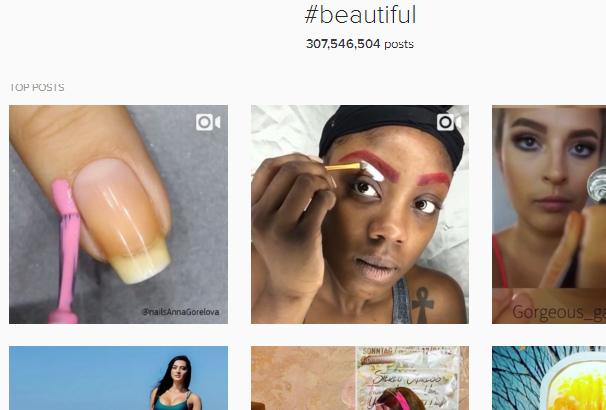 Instagram Hashtag Beautiful