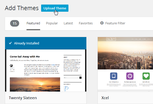 Upload New Theme