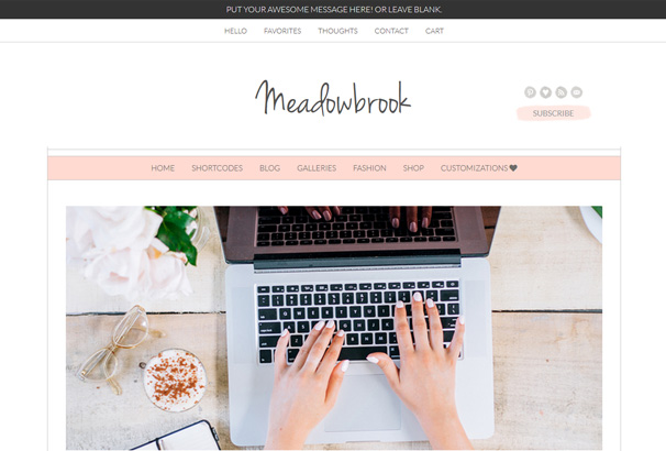 free feminine wordpress themes
