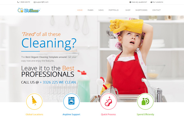 20 best cleaning company wordpress themes 2017 updated 8 flashek Choice Image