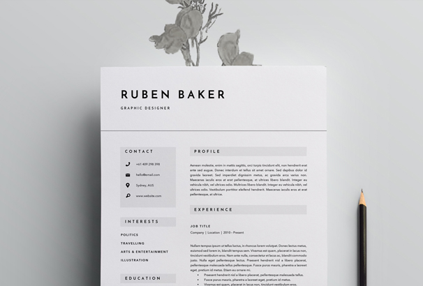 Cv  Resume  Cover Letter Templates For Word  Pdf
