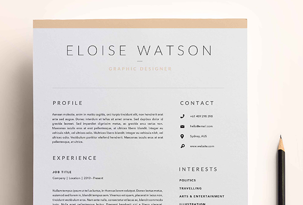 3 Page Resume Template Indd Docx1  Cover Page For Resume Template