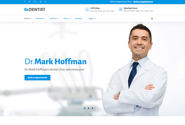 bedentist-website-template