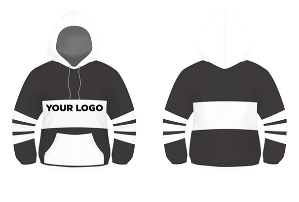 black-and-white-hoodie-design-vector-template