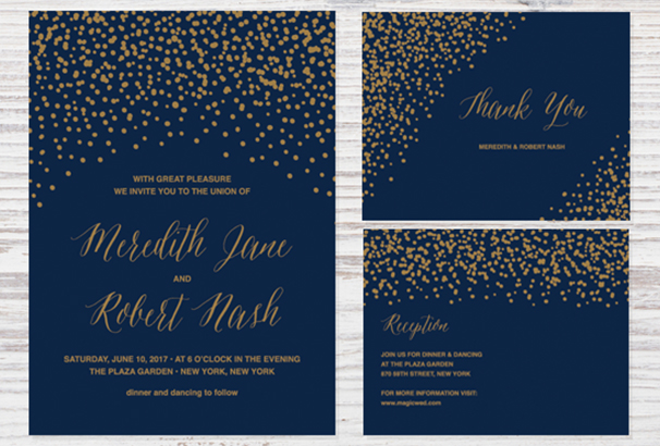 50 best invitation templates for weddings parties 2017 confetti wedding invitation stopboris Images