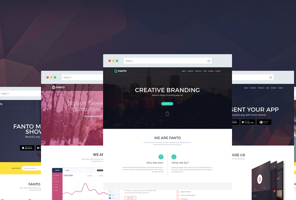 50+ Best Adobe Muse Landing Page Templates 2017