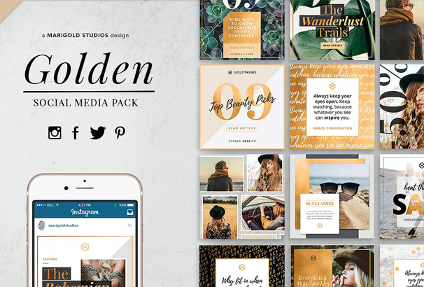 golden-theme-social-media-pack