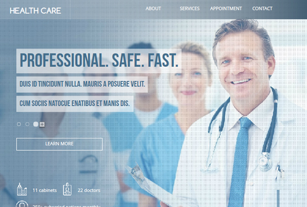 health-care-dental-landing-page-theme