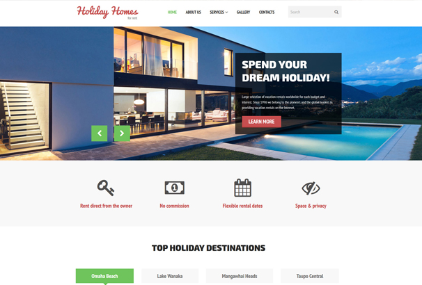 holiday-homes-for-rent-website-template