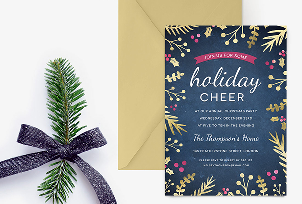 holiday-party-invite-foil-foliage