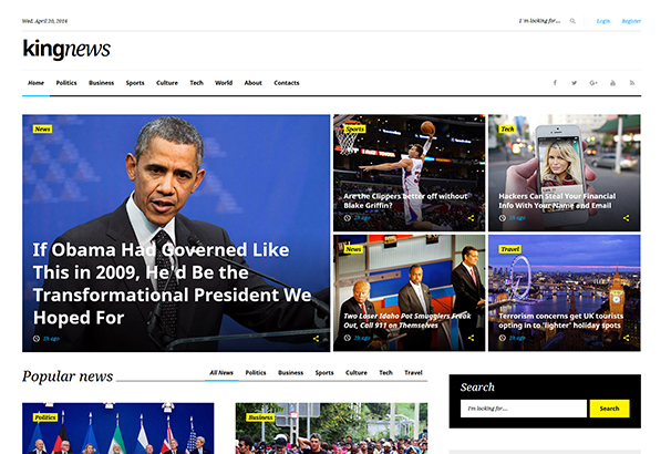 king-news-multipurpose-website-template