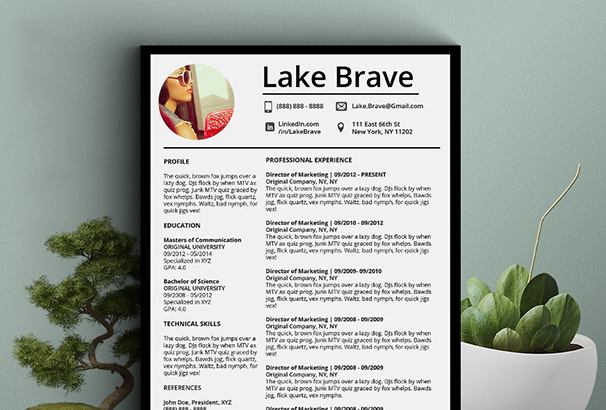 lake-brave-resume-cv-5-pack