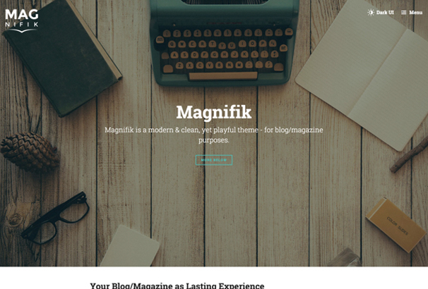 magnifik-writer-reader-friendly-ghost-theme