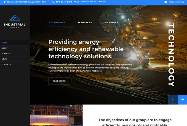 mining-company-responsive-website-template