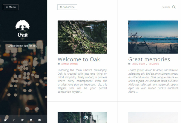 oak-clean-responsive-ghost-theme