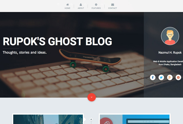 pencraft-material-design-ghost-theme