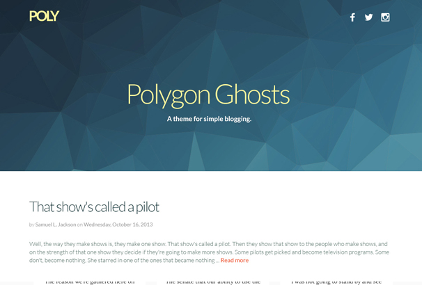 poly-simple-responsive-ghost-theme