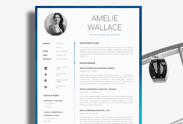 50  cv    resume  u0026 cover letter templates for word  u0026 pdf 2017