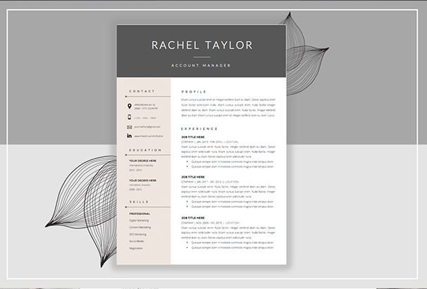 50 Cv Resume Cover Letter Templates For Word Pdf 2017