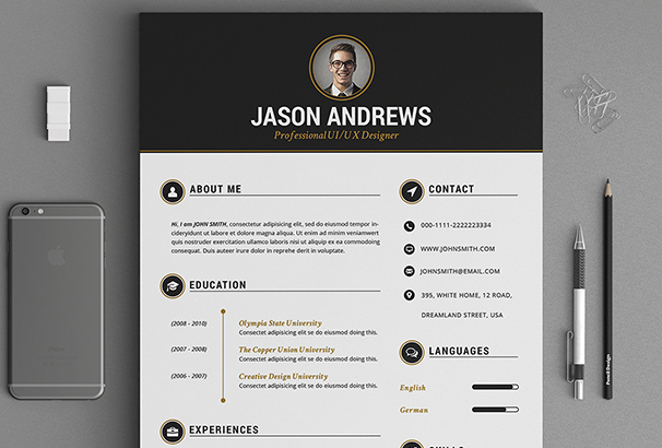 the-elegant-resume-cv-set-template