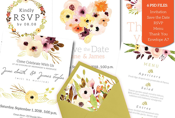 watercolour-wedding-invitation-set